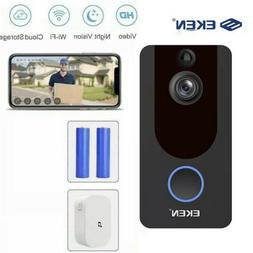 2020- EKEN V7 HD 1080P Smart Home Video Doorbell Camera Wire