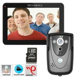 "9"" LCD Video Doorphone Doorbell Intercom 1000TVL Camera Remo"