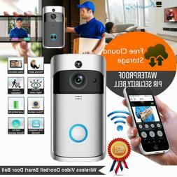 Door Peephole Camera HD Smart WiFi Doorbell Video TwoWay Tal