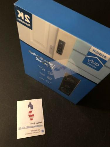 eufy Wi-Fi Video Doorbell 2-way Monthly Fees NEW
