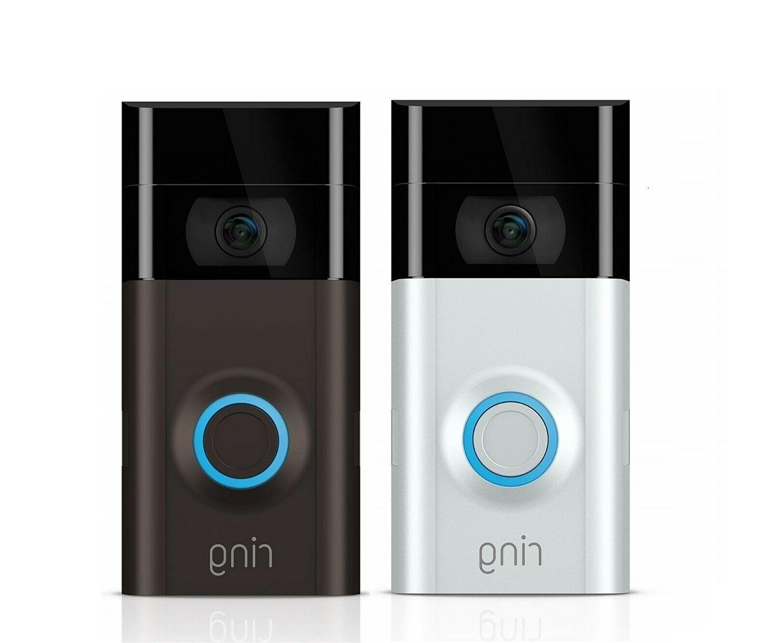 Ring Doorbell 2 - 1080p HD Video - Wi-Fi Home Security Camer