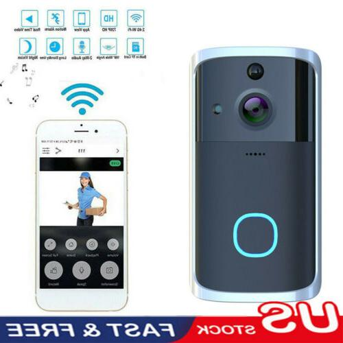 wireless wifi video doorbell smart phone door