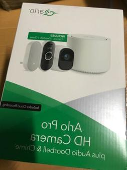 NEW Netgear Arlo HD Camera + Audio Doorbell Home Security Sy
