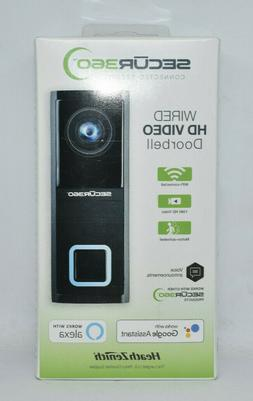 New Heath Zenith SECUR 360, Wired HD Video Doorbell Camera F