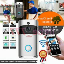 Wireless Smart WiFi Door Bell IR Video Visual Ring Camera Gr