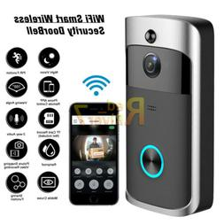 Wireless Smart WiFi Door Bell IR Video Visual HD Camera Inte